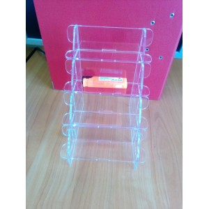 Подставка прозрачная для зажикалок 4 ярусная