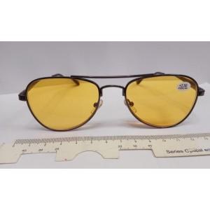 Водительские очки, Focus F8138, черная ободковая оправа каплей, авиатор, готовые очки с диоптриями, р/ц 62-64