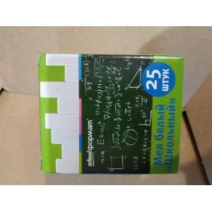 Мел для рисования на асфальте, для школьной доски (упаковка 25 мелков)