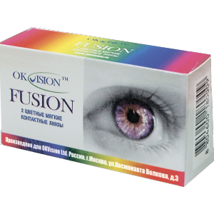 Карнавальные линзы OKVision Fusion Fancy, New Bio Co, 2 линзы