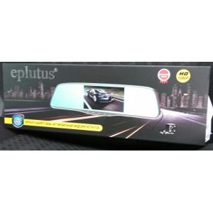 Автомобильный видеорегистратор-зеркало Eplutus D10 Full HD с двумя камерами и сенсорным экраном
