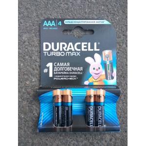 AAA Батарейка Duracell, 4шт Бельгия (LR03) Turbo Max