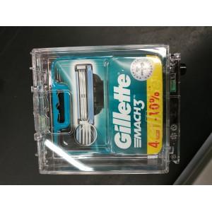 Бритва станок Mach 3 Gillette в комплекте 4 насадки без ручки