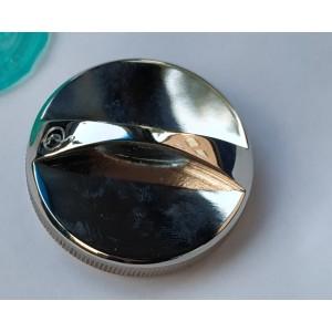 Печать круглая, ручная оснастка 40 мм металлическая без подушки