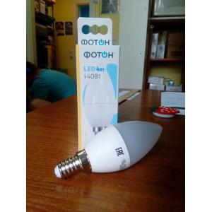 Светодиодная лампа цоколь Е14, 40Вт, 3000к, яркость 360мл