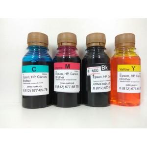 Комплект из 4 бутылочек чернил по 100 мл. для ПЗК Brother MFC-J2510, MFC-J2310, MFC-J3720, MFC-J3520 LC563, LC565, LC567