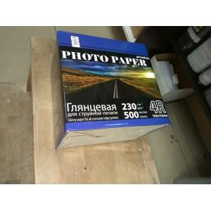 Фотобумага глянцевая 230 гр, 500 листов, 4R 102X152 мм (А6 - 10Х15 см)