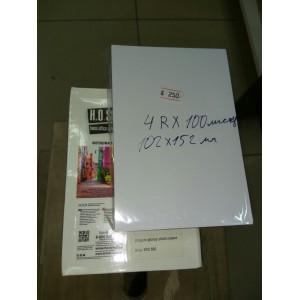 Фотобумага глянцевая, 200гр, 10х15 см A6 ( R4 102x152мм ), 100 листов