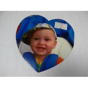 Фото на магните сердечке - большой магнит сердце с вашим фото или надписью.