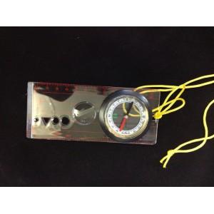 Военный планшетный компас, прозрачный с линейкой, шнурком на шею, трафаретом, лупой
