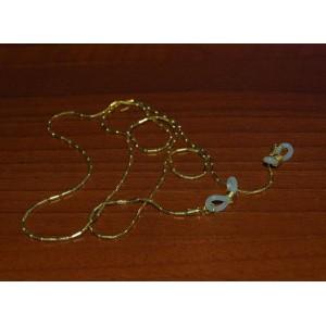 Золотая цепочка для очков с силиконовыми держателями
