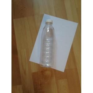 Бутылочка 1000 мл с крышечкой в комплекте, высота 250 мм х диаметр 80 мм для молока