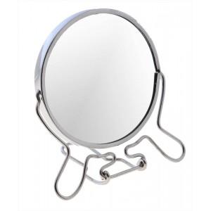 Зеркало металлическое с увеличением 7 дюймов двойное