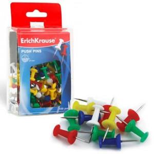 Силовые кнопки-гвоздики ERICH KRAUSE, цветные, 100 шт.