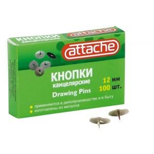 Кнопки канцелярские Attache металл. в карт.уп.12мм (100шт)